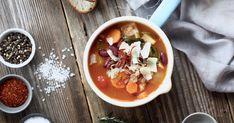 Jedna rychlá polévka na zahřátí v dnešním větrném počasí. Soup Recipes, Tacos, Fresh, Ethnic Recipes, Kitchen, Food, Soups, Red Peppers, Cooking