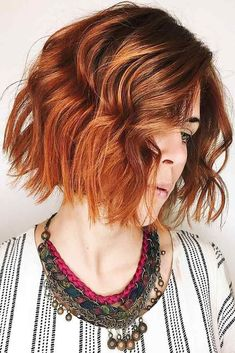 Black Coffee Hair With Ombre Highlights - 10 Cool Ideas of Coffee Brown Hair Color - The Trending Hairstyle Fall Hair Colors, Red Hair Color, Brown Hair Colors, Ginger Ombre, Ginger Hair, Asymmetrical Bob Haircuts, Short Bob Haircuts, Haircut Short, Red Hair Trends