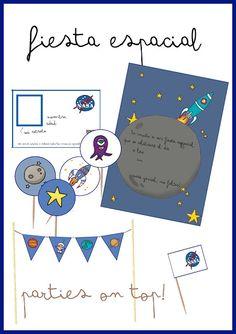 SPACE PARTY FREE PRINTABLES - IMPRIMIBLES GRATUITOS PARA UNA FIESTA DE ASTRONAUTAS  espacio - astronautas - espacial - freebie - descargable