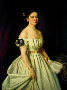 Portrait of princess Catherine Alekseevny Vasilchikova (1867) Ivan Kramskoy Russian (1837 - 1887)