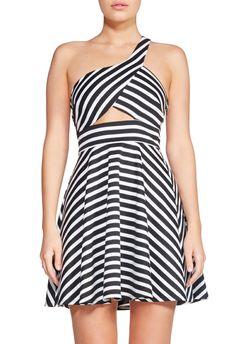 One Shoulder Strap Dress   dirst32p