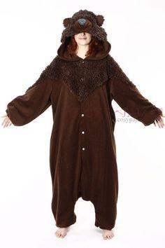 884b6f3e126a Adult Animal Onesie Brown Bear Onesie Kigurumi Costume-reminds me of Brave!  Pyjamas Online