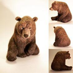 Cute Needle felting wool cute animal bear (Via @sarahmalton4)