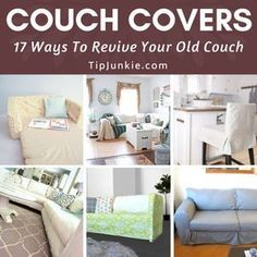Do you have a couch that's past its prime and a budget too tight for a new one? There are plenty of ways to revive a worn out couch or sofa and one… Ikea Couch Covers, Furniture Covers, Diy Couch, Slipcovers, Sofa, Ikea Sofa Covers, Cases, Couch, Furniture Slipcovers