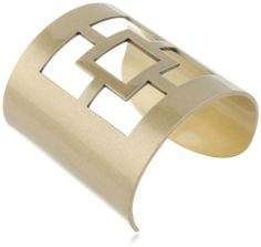 "Trina Turk ""Palm Springs Classics"" Antique Gold Pierced Logo Cuff Bracelet, 2.25"" Trina Turk,http://www.amazon.com/dp/B00DJPR5YC/ref=cm_sw_r_pi_dp_ISsptb1Q8X31P2D6"
