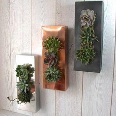 Copper Living Wall Art Planter