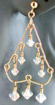 """""""W-shaped"""" Chandelier Beaded Earrings jewelry making project"""