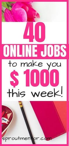 40 work from home jobs and online jobs opportunities you can use to make at least $2,000 per month. Learn how to make money from home in this post! #workfromhome #makemoneyfromhome #workfromhomejobs #onlinejobs