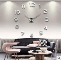 ef7b855db0c New Fashion Large Number Wall Clock Diy Mirror Sticker Home Decor Art Modern