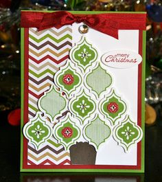 Stampin' Up! Christmas by Krystal's Cards and More: Mosaic Madness Christmas Tree