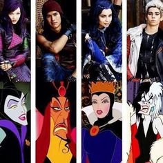 This shows the son's and daughter's of some of the most well known Disney villains.