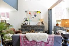 Erin's Layered Bohemian Oakland Loft - obsessed with this house tour!