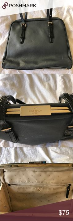 Kate Spade bag 💼 ♠️ Used Kate spade bag. Just needs a little 'elbow grease'. Willing to negotiate price, but nothing low ball. kate spade Bags