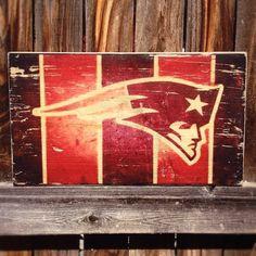 New England Patriots Team Logo Wooden Wall Hanging