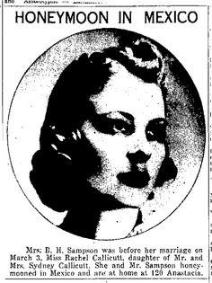 Barney Sampson page 35 of: San Antonio Light March 17, 1940