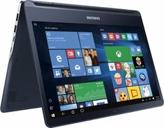 "Samsung - Notebook 9 spin 13.3"" Touch-Screen Laptop - Intel Core i7 - 8GB Memory - 256GB Solid State Drive - Pure Black - Front_Zoom"