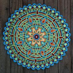 Crochet Overlay Mandala No. 5, Pattern, PDF by CAROcreated design