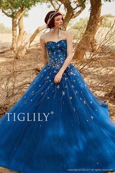 TIGLILY(ティグリリィ)DIANAコレクションの星のドレスc191 シリウス