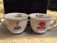 Wedding gift  Personalized mr and mrs mug