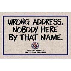 witness protection doormat