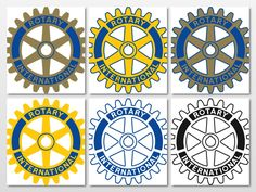 Here are all the approved versions of Rotary International's wheel logo.