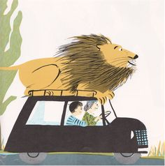 The Happy Lion's Vacation by Louise Fatio, illustrated by Roger Duvoisin (1967).