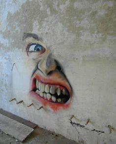 Quand on a foncé tête baissée dans le mur, c'est dur d'en ressortir... / Melbourne. / Australie. / Australia. / Street art. / By Matt Adnate.