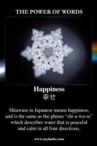 Water Crystal - Happiness
