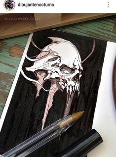 Copic Marker Art, Crane, Desenho Tattoo, Airbrush Art, Monster Art, Gothic Art, Fantasy Artwork, Skull Art, Art Sketchbook