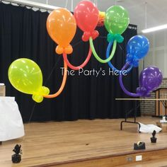 "16"" Linky Arch for a Year 6 Graduation.  www.thepartyshere.com.au  #balloons #rainbow #qualatex #iamconwin #balloonartist #balloonarch #party #decorations #colours"