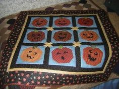 19 Pumpkin Patterns: Free Tutorials for Fall Quilts Happy Jack O Lantern Quilt...In this collection of pumpkin patterns, free Halloween applique patterns, and fall quilts, you will find patterns for all your autumn quilting needs. Among our Halloween projects, you will find spooky jack-o-lantern patterns and other Halloween sewing projects featuring pumpkins.