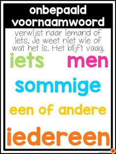 Juf-Stuff: Posters word types - Back to School School Hacks, Learn Dutch, School Posters, Fun Learning, Preschool Activities, Kids And Parenting, Back To School, Homeschool, Holland