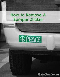How to Remove a Bumper Sticker.
