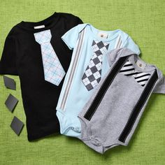 cute boy onesies if Luxe ever wore things like this. He would be cute in them for summer church!