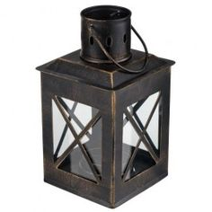 A beautifully made bronze lantern with clear glass windows. It is perfect for cosy summer evenings, alfresco dining and outdoor living…