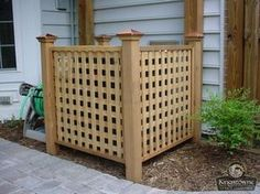 fence to hide air conditioner unit Air Conditioner Cover Outdoor, Air Conditioner Screen, Ac Unit Cover, Ac Cover, Hide Ac Units, Outdoor Spaces, Outdoor Living, Outdoor Ideas, Outdoor Stuff