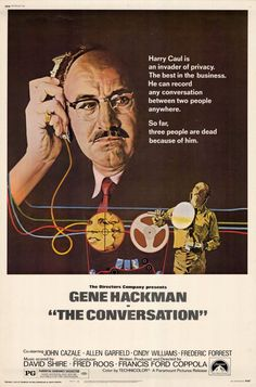 The Conversation starring Gene Hackman is nominated for Best Picture in 1974. The film would lose out to The Godfather Part II directed by Francis Ford Coppola who won an Oscar for Best Director and  ironically directed this film.