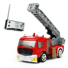 Shenqiwei 40MHZ 1:58 Mini Ladder Fire Engine RC Car - RTR • This Product is made of new ABS material, which is environmentally friendly as well as safe and bump resistant. • It's small and exquisite with original and unique appearance.  • It is as the same size as your palm which takes up little space and it's available to be played indoors. • With a remote controller, your child can have more fun and excitement playing. Due to its exquisite workmanship, it can also become a decoration at…