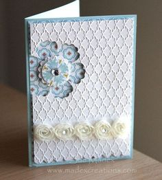 Flower-punch-card by Sue Madex