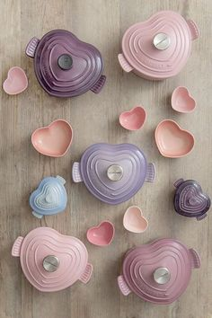 Le Creuset Light Bluebell Purple Cast Iron Heart Buffet :: love the pink pieces Cute Kitchen, Kitchen Items, Kitchen Utensils, Kitchen Gadgets, Kitchen Decor, Kitchen Appliances, Cooking Gadgets, Deco Pastel, Le Creuset Cookware