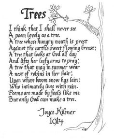 trees poem lyrics