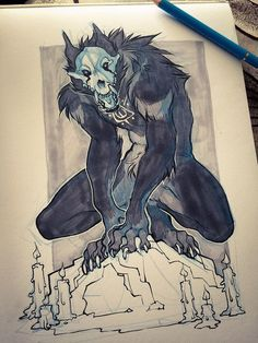 Creature Concept Art, Creature Design, Mythical Creatures Art, Fantasy Creatures, Creature Drawings, Animal Drawings, Wolf Drawings, Character Inspiration, Character Art