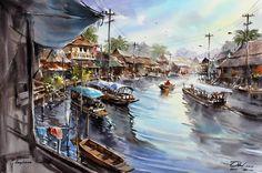 Thanakorn Chaijinda 水彩画03(21P) - 桃源居士的日志 - 网易博客