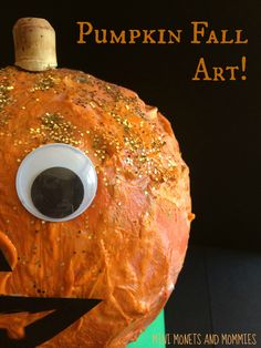 Kids' pumpkin paper mache sculpture art activity!