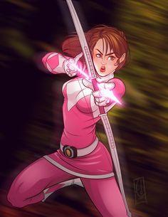 Go Go Pink Ranger by EderLunaC on DeviantArt