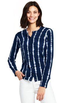 Blue Print Shibori Stripe cardigan
