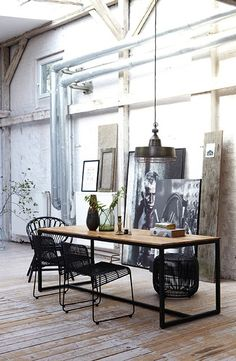 "art studio ✯ #French #industrial  ""I want to build a café with an Art Studio in it"""