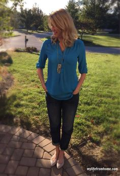 Stitch Fix Review | 41 Hawthorn Colibri Blouse | www.mylifefromhome.com