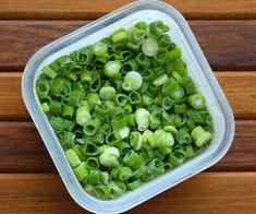 Picture of Freezing Green Onions Freezing Fruit, Freezing Vegetables, Frozen Vegetables, Fruits And Veggies, Freezing Onions, Onion Recipes, Pasta Recipes, Frozen Meals, Canning Recipes