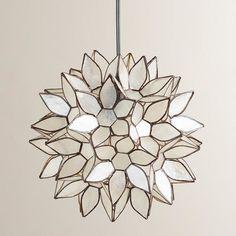 Small Capiz Lotus Hanging Pendant Lantern - Pendant Lighting - Cost Plus World Market